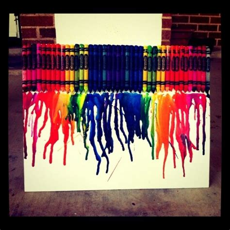 arts and crafts to decorate your room melted crayon 12 craft room decor ideas