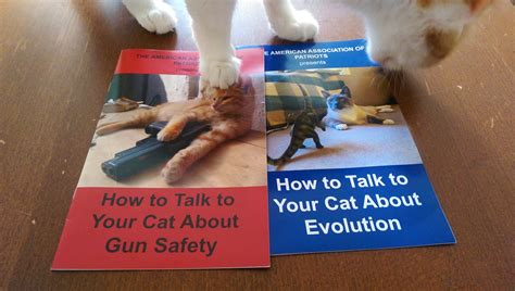 how to your to talk how to talk to your cats about gun safety and evolution