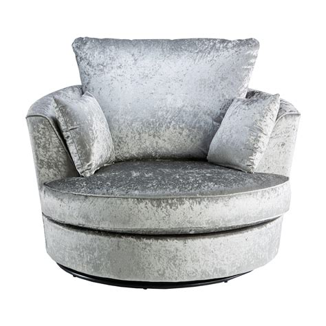 swivel couch chair crushed velvet furniture sofas beds chairs cushions