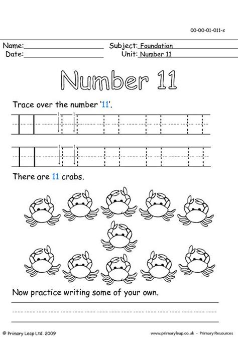 the number eleven primaryleap co uk