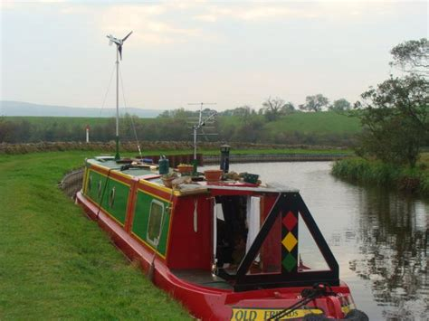 canal boat wind turbine le 300 powers canal boat leading edge turbines power