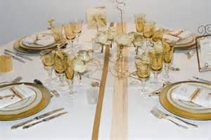 d 233 coration de table or et blanc sofie s events