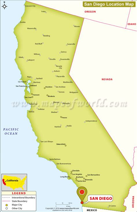 san diego map usa where is san diego located in california usa