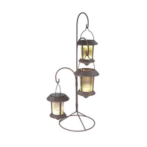 Hold All Outdoor Solar Hanging Lites With Stands Path