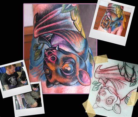 new school tattoo mn fruit bat hand tattoo by scotty munster tattoonow