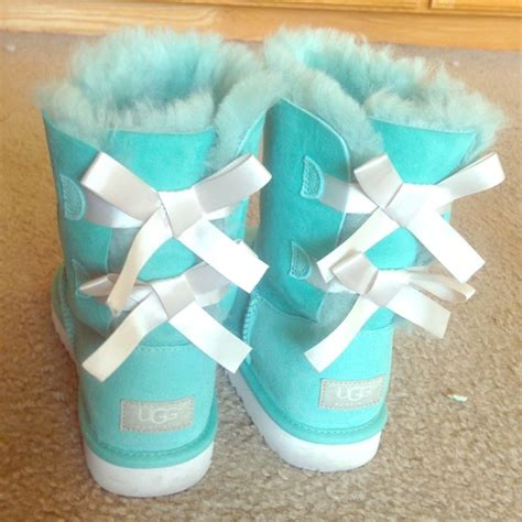 Light Blue Uggs With Bows by 13 Ugg Boots Blue Bailey Button Uggs