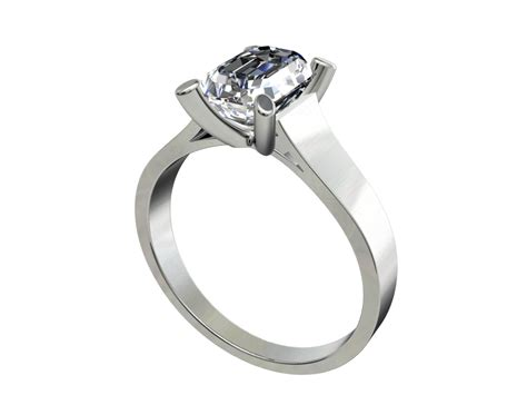 Hk Ring emerald ring hk 3d model 3d printable stl cgtrader