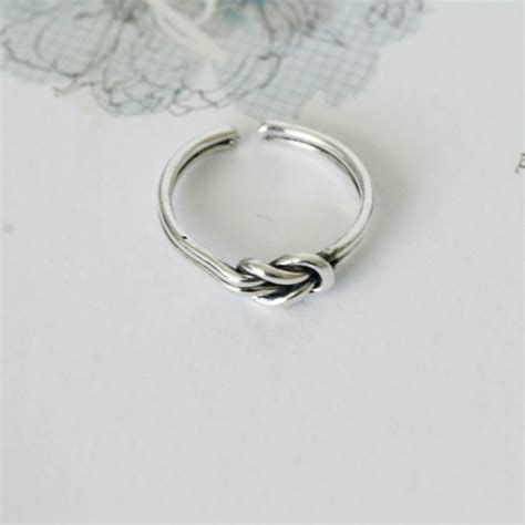 sterling silver knot ring by attic