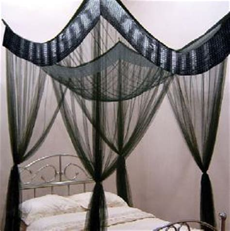 Canopy Net Black Gem 4 Poster Mosquito Net Bed Canopy Dble