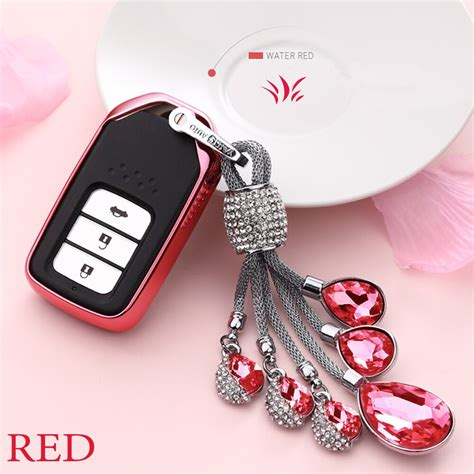 artificial crystal pendant keychain  honda   jed crider odyseey crv accord civic fit