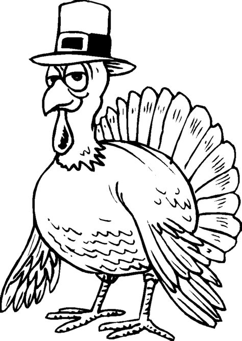 funny turkey coloring page coloring home