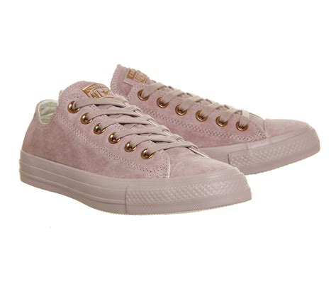 Converse Low Leather converse all low leather in pink lilac lyst
