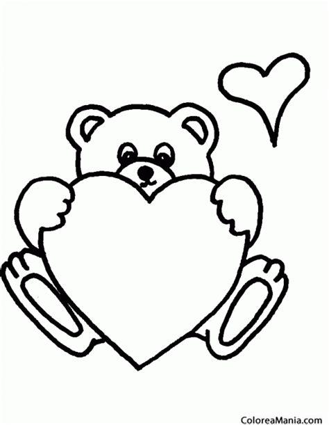 imagenes de corazones y osos colorear oso corazn animales de la selva dibujo para
