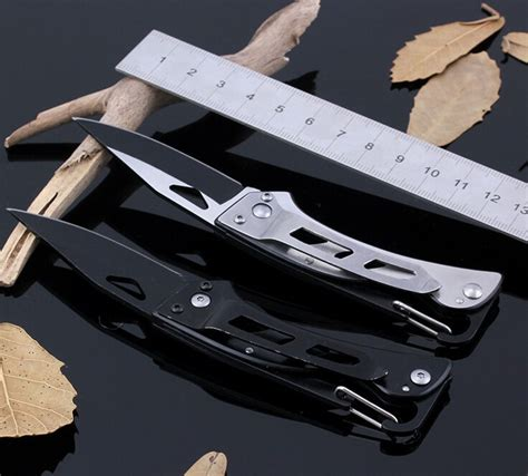 Pisau Outdoors Haller Tactical Folding Outdoor Survival Knife Outdoor Butterfly Folding Knife Black Jakartanotebook
