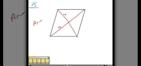 area calculater how to calculate the area of a rhombus 171 math