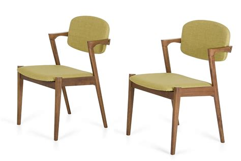 skylar modern green tea fabric dining chair set of 2