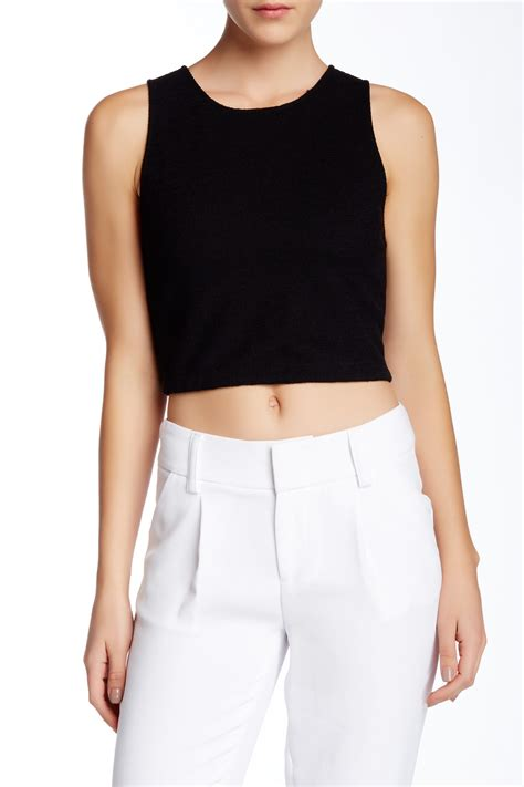 Best Quality Flaw Crop Black pire sleeveless fitted crop top nordstrom rack