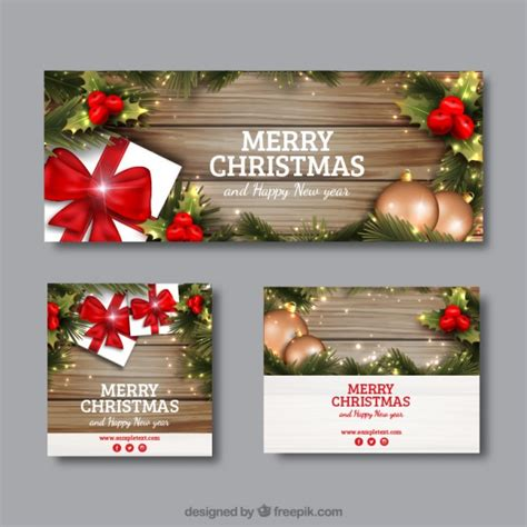 images of christmas banners realistic christmas banners in different sizes vector