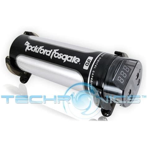 rockford fosgate car audio capacitor rockford fosgate rfc1d 1 farad digital capacitor