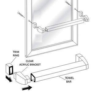 Shower Door Towel Bar Replacement Framed Sliding Shower Door Chrome Towel Bar With Clear Acrylic Brackets