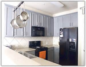 paint colors for kitchen cabinets with black appliances