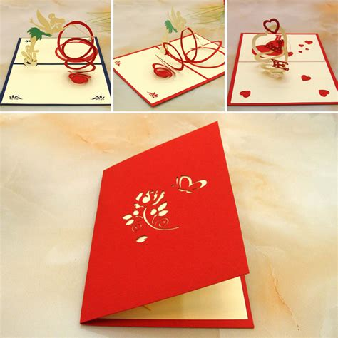 pop greeting cards greeting cards flowers kraft paper blank 3d pop up card