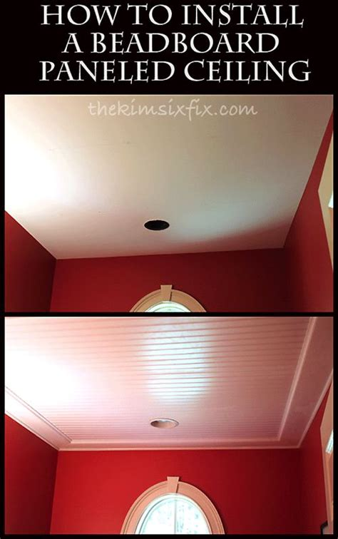how to install bead board how to install a beadboard paneled ceiling ceilings