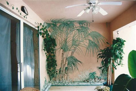 Hand Painted Wall Mural tropical home hand painted wall murals tropical tampa
