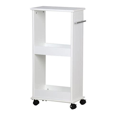 rolling bathroom storage slimline rolling storage shelf with 4 wheels space saver