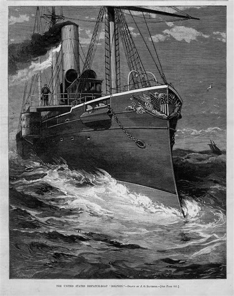 dispatch boat united states dispatch boat dolphin armored ship print ebay