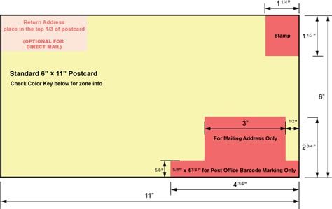 11 x 6 postcard template usps regulations