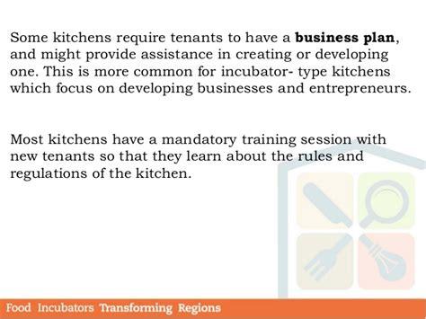 Module 3 Food Incubators Business Operations Incubator Agreement Template