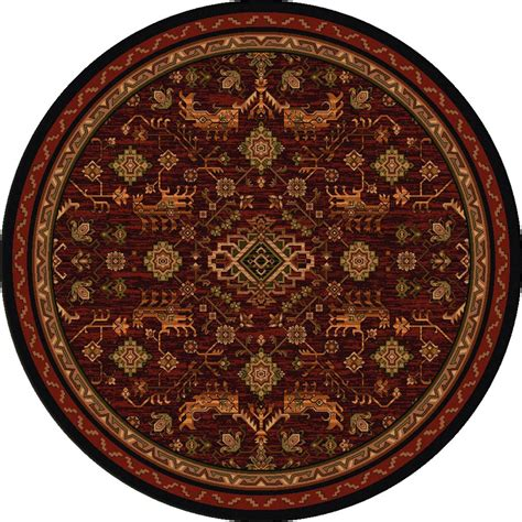 8 Ft Rug by Tribal Echoes Rosewood Rug 8 Ft