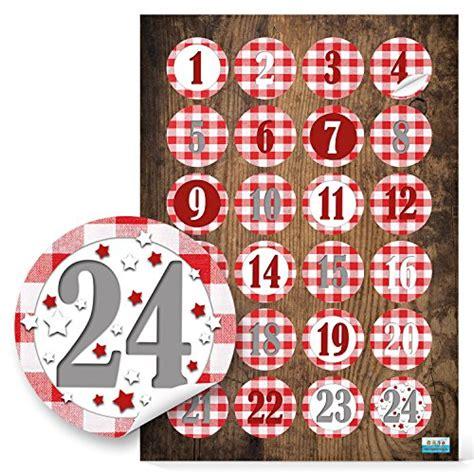 Aufkleber Drucken Lassen Regensburg by 24 Adventskalenderzahlen In Rot Wei 223 Kariert Sticker