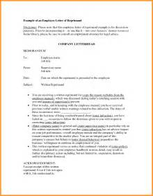 Letter Of Reprimand Template by Letter Of Reprimand Exle The Best Letter Sle