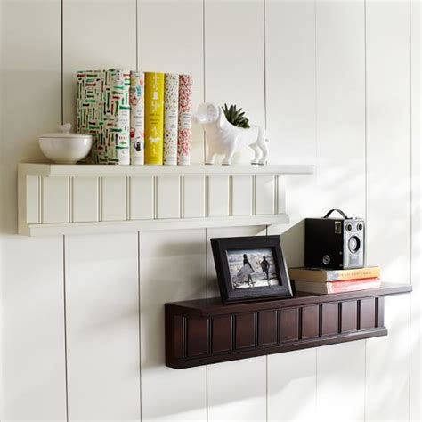 Beadboard Shelf by Beadboard Single Shelf Pbteen
