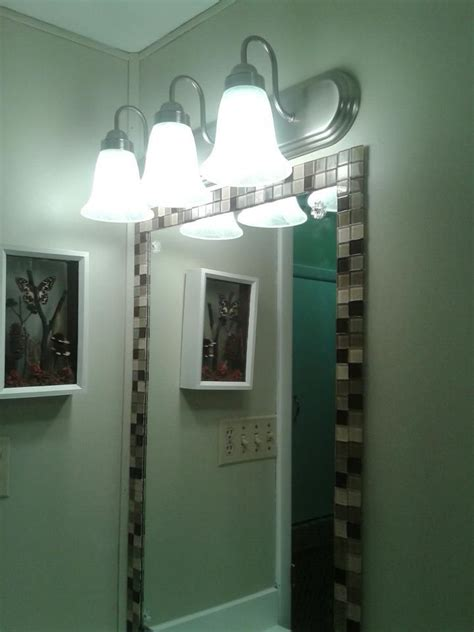 adhesive bathroom mirror glass tile that was glued on with mirror adhesive home
