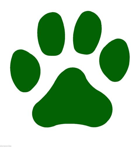 paw print clip green clipart paw print pencil and in color green