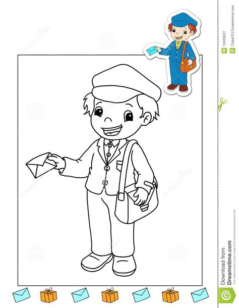 free coloring books by mail coloring page of a mail carrier coloring page