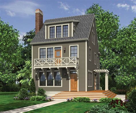 3 story homes narrow lot house plans on