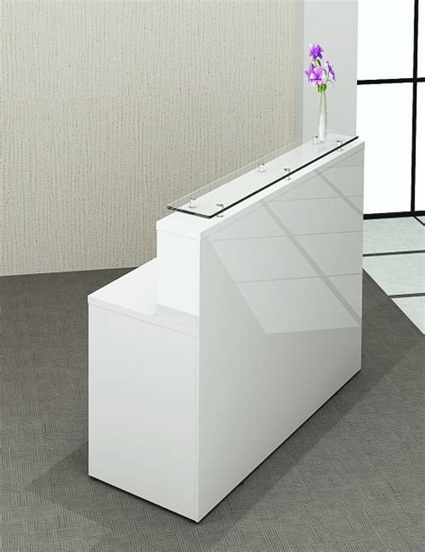 White Reception Desk For Sale White Gloss Reception Desk