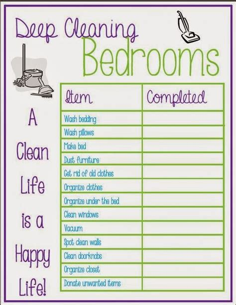 cleaning bedroom checklist pinterest the world s catalog of ideas