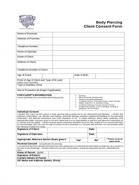 client consent form template exelent client consent form template ensign resume ideas