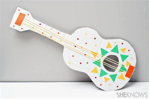 Paper Guitar Craft - cinco de mayo ideas for