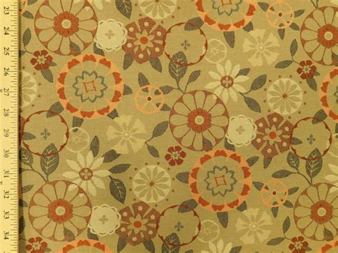 upholstery fabric retro momentum trove carex mid century modern retro floral tan