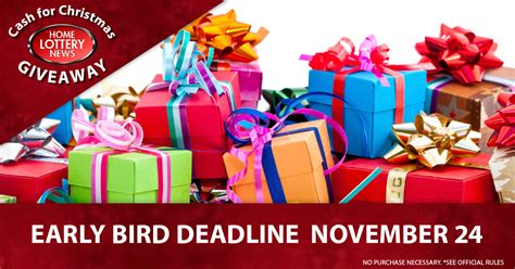 Win Money For Christmas - early bird deadline friday in the 2017 cash for christmas giveaway