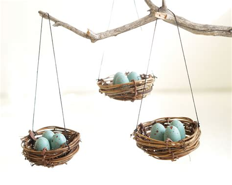 christmas ornaments nest blue robins eggs tree