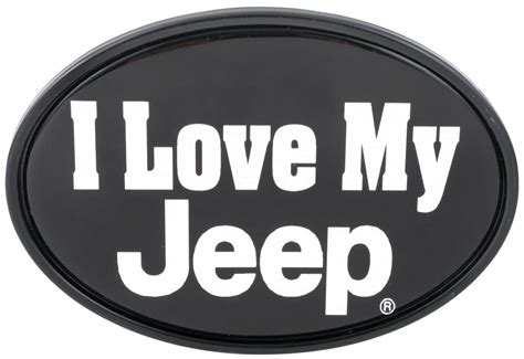 i love my jeep i love my jeep 2 quot trailer hitch receiver cover knockout