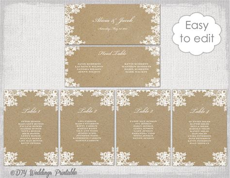 floral design printable wedding seating plan by beautiful day