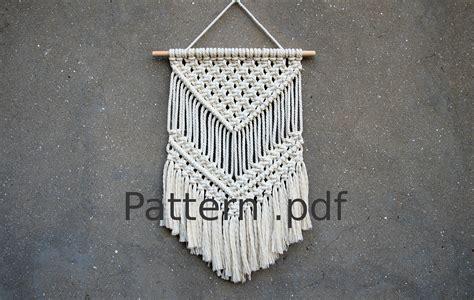 Macrame Pdf - macrame wall hanging pattern pdf pattern macrame pattern diy